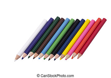 color pencil on white background for painting