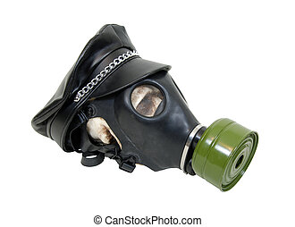 The industrial look - Rubber gas mask to protect the wearer...