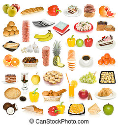 collection of different food