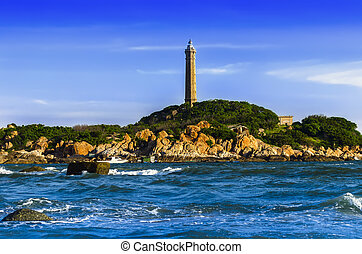 Khe Ga Lighthouse. - Khe Ga Lighthouse at Than Thanh...