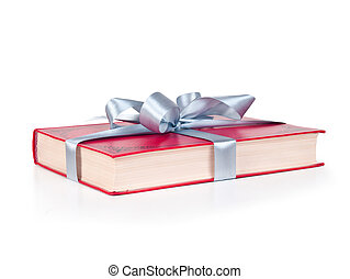 book for gift on white