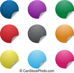 Collection of vector colorful bright stickers for price.
