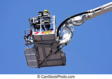Fire platform 2 - Fire fighter in big and tall crane