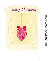 Vector Christmas bauble background card