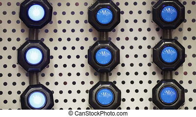 Wall lights lamps with shifty - Blue light flashlight turns...