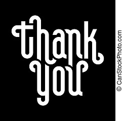 THANK YOU lettering (vector) - THANK YOU lettering -- custom...