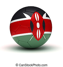 Kenyan Football (isolated with clipping path)