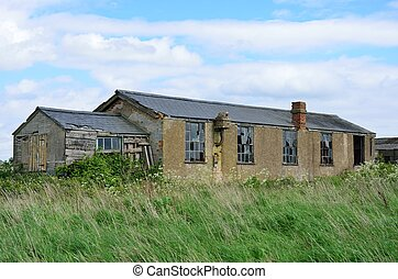 Derelict brick building - Derelict brick air field building