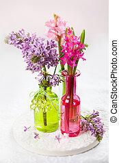 Spring flowers - Beautiful spring flowers in vases