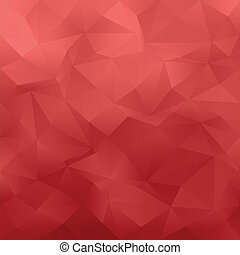 Red abstract background - Red abstract irregular triangle...