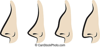 Vector illustration of noses - Variation of noses. Vector...