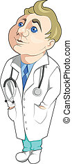 Doctor with stethoscope - Happy doctor with stethoscope is...