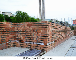 Brick masonry - construction site