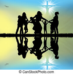 celebrate Jesus - illustration of Jesus