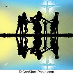 celebrate Jesus - illustration of Jesus