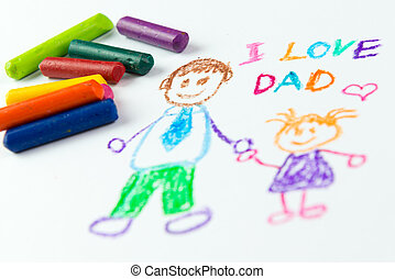 Happy fathers day - Childs drawing of happy fathers day...