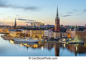 Riddarholmen, Stockholm - view of Riddarholmen from the...