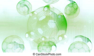 Soccer Looping Background - Soccer in Blown out white and...