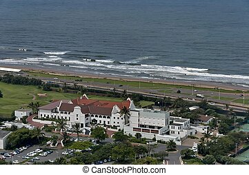 Above view to Durban coast - Seaside above view to Durban...