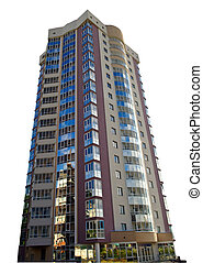 apartment building isolated - apartment block building...