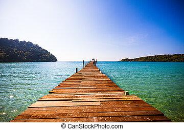 wooden walkway  - wooden walkway