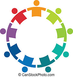 Team in a circle 9 image logo - Team in a circle 9 image -...