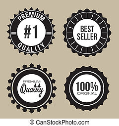 Labels of Premium Quality