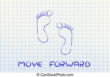 move forward, one step at a time: footprint design - funny...