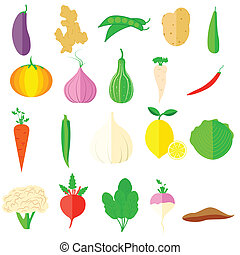 Vegetable Icon - easy to edit vector illustration of...