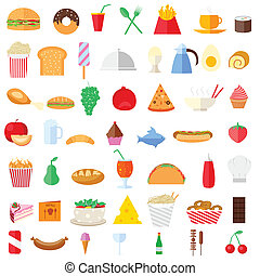 Food Icon - easy to edit vector illustration of food icons