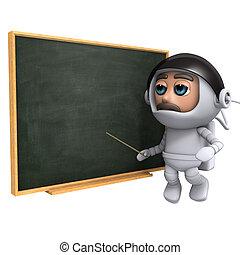 3d Astronaut teaches - 3d render of an astronaut floating...