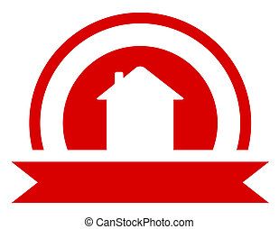red real estate symbol