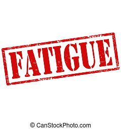 Fatigue-stamp - Grunge rubber stamp with text Fatigue,vector...