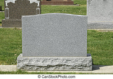 Blank Cemetery Tombstone - Large Blank Tombstone