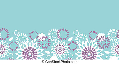 Purple and blue floral abstract horizontal seamless pattern background