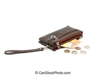Purse with money