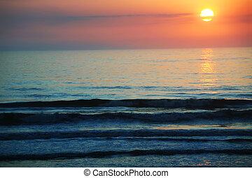 Orange sunrise or sunset