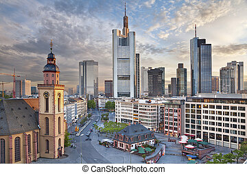 Frankfurt am Main. - Image of Frankfurt am Main skyline...