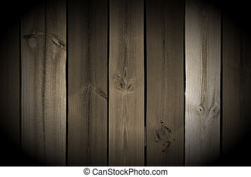 Vintage Wood Planks with Spotlight - Monochrome vintage wood...
