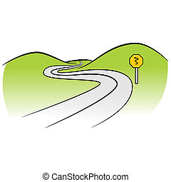 Curved Road - An image of a curved road.
