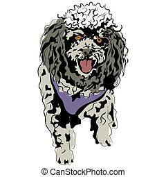 Poodle Sketch - An image of a poodle.
