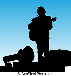 Musician Playing On Stage - An image of a musican on stage...