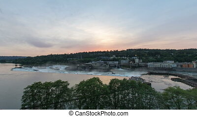 Willamette Falls in Oregon City - Willamette Falls a natural...