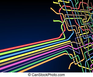 Subway slant - Abstract editable vector background of a...