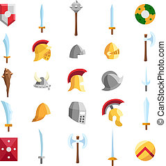 Flat medieval icons 2