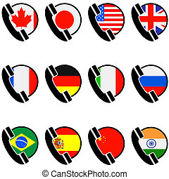 Country phone icons