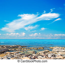 Lu Bagnu rocks - rocky shore in Lu Bagnu, Sardinia