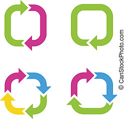 Colorful cycle arrows Vector illustration