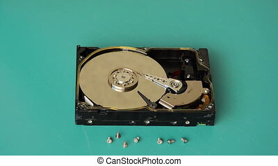 Flooding hard disk - Someone pouring boiling water on the...