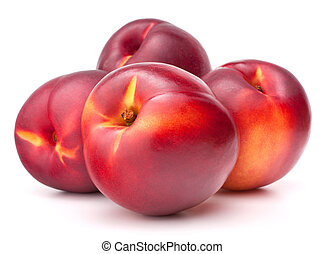 Nectarine fruit isolated on white background cutout -...